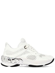 Casadei 30Mm Dynamic Mesh And Naplak Sneakers White