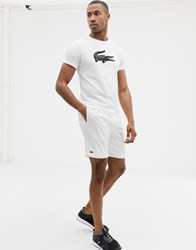 Lacoste Sport Running Shorts In White