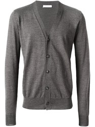 Boglioli V Neck Cardigan Grey