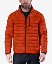 Hawke And Co. Outfitter Men's Packable Down Jacket Princeton Orange