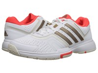 Adidas Barricade Court White Copper Metallic Solar Red Women's Tennis Shoes