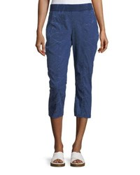 Xcvi Bridie Summer Twill Crop Pants Blue