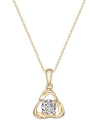 Macy's Diamond Pendant Necklace 1 2 Ct. T.W. In 14K Gold Yellow Gold