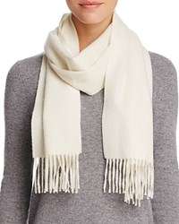 Bloomingdale's C By Solid Cashmere Scarf Ivory