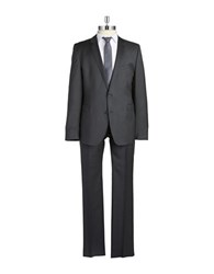 Strellson Solid Two Piece Suit Grey