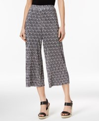 Ny Collection Petite Printed Cropped Culotte Pants Pastel Coding