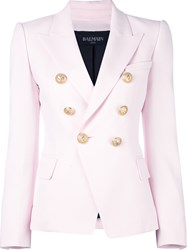 Balmain Fitted Blazer Pink And Purple