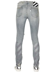 Off White New Vintage Skinny Cotton Denim Jeans