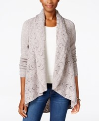 Karen Scott Shawl Collar Open Front Cardigan Only At Macy's Gull Marl