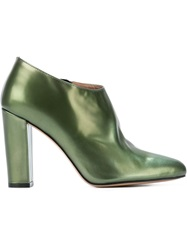 Jean Michel Cazabat 'Kristal' Ankle Boots Green