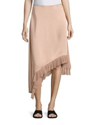 Elizabeth And James Ailie Asymmetric Ruffle Hem Skirt Biscuit