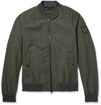 Belstaff Stonefield Shell Bomber Jacket Army Green