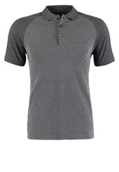 Kiomi Polo Shirt Grey Melange Mottled Grey
