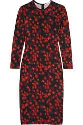 Givenchy Dress In Floral Print Stretch Jersey Black