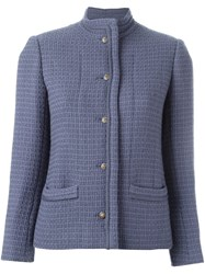 Chanel Vintage Boucle Fitted Jacket Pink And Purple