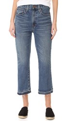 Madewell Relaxed Crop Flare Jeans With Let Down Hem Callahan Wash