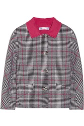 Oscar De La Renta Cropped Plaid Wool Jacket