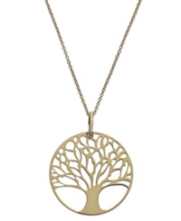 Giani Bernini 24K Gold Over Sterling Silver Tree Of Life Pendant Necklace