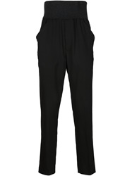 Thamanyah Slim Fit Trousers Black