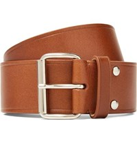 A.P.C. 4Cm Brown Leather Belt Brown
