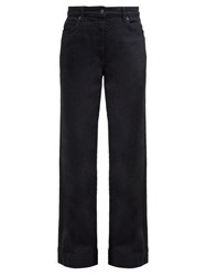 The Row Anat High Rise Wide Leg Jeans Black