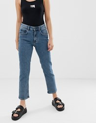 Cheap Monday Organic Cotton Mom Jeans With Cropped Leg Blue