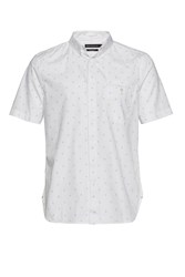 French Connection Men's Halley Dot Short Sleeve Shirt White