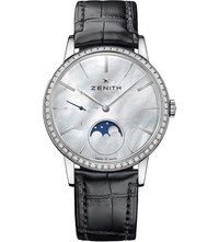 Zenith 16232069280C714 Elite Mother Of Pearl Moonphase Watch