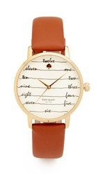 Kate Spade Metro Watch Brown Gold