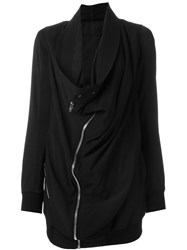 Rick Owens Draped Biker Coat Black