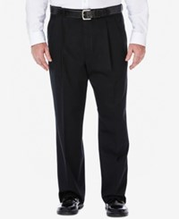 Haggar Work To Weekend Big And Tall Pleated Pants Black