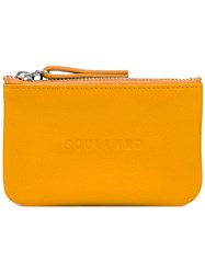 Soulland Joan Wallet Men Leather One Size Yellow Orange