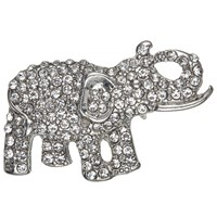 John Lewis Giraffe And Elephant Brooch Pack Of 2 Silver