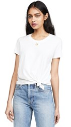Madewell Knot Front Tee White Wash
