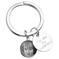 Under The Rose Personalised Message Tag Fob Keyring Small