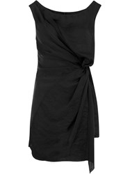 Masnada Ruched Side Blouse Black