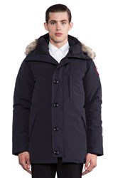 Canada Goose Chateau Coyote Fur Trim Parka Navy