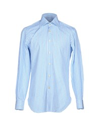 Kiton Shirts Shirts Men Sky Blue