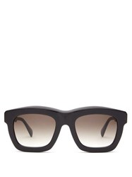 Kuboraum Square Acetate Sunglasses Black