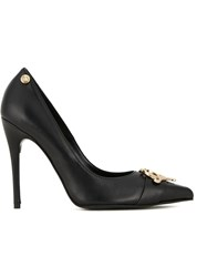 Love Moschino Logo Plaque Pumps Black