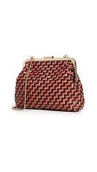 Clare V. Flore Bag Black Red Zigzag
