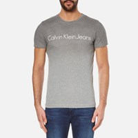 Calvin Klein Men's Tear Regular Fit T Shirt Silver Scone Grey