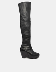 Gardenia Leather Knee High Boots Mesticoskinnyblack