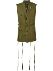 Icosae Sleeveless Military Jacket Green