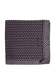 Dunhill Paisley Print Silk Pocket Square Grey