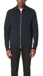 Theory Neofil Kampers Tech Cotton Zip Sweater Eclipse