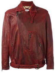 Pihakapi Classic Biker Jacket Red