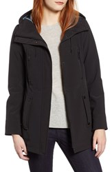 Marc New York Bonded Jersey Hooded Parka Black
