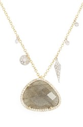 Meira T Women's Jewelry Diamond And Semiprecious Stone Pendant Necklace