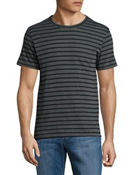Alternative Apparel Striped Short Sleeve Tee Black Forest